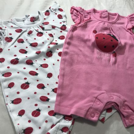 0-0 Newborn 2 x Romper Set